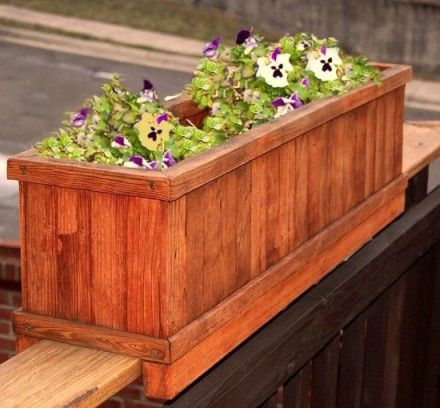 Deck Rail Planter Box But White And The Deck Too Garden