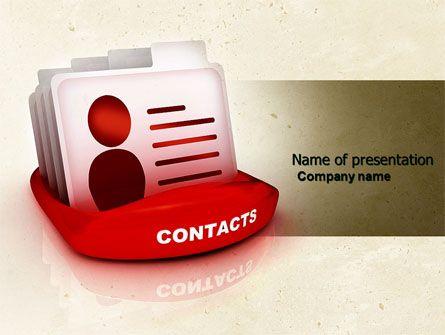 wwwpptstar powerpoint template contacts-list  Contacts - contacts list template