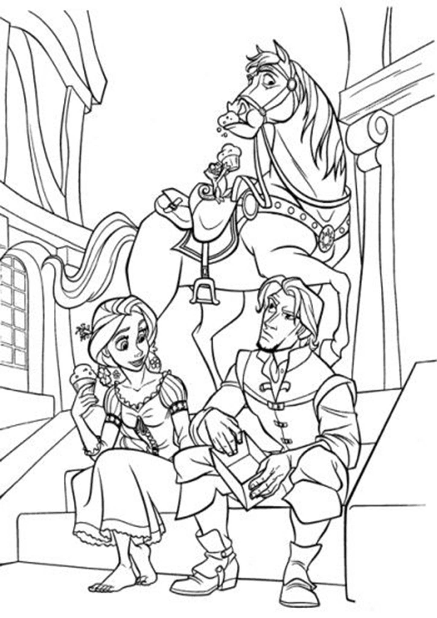 Free Amp Easy To Print Tangled Coloring Pages