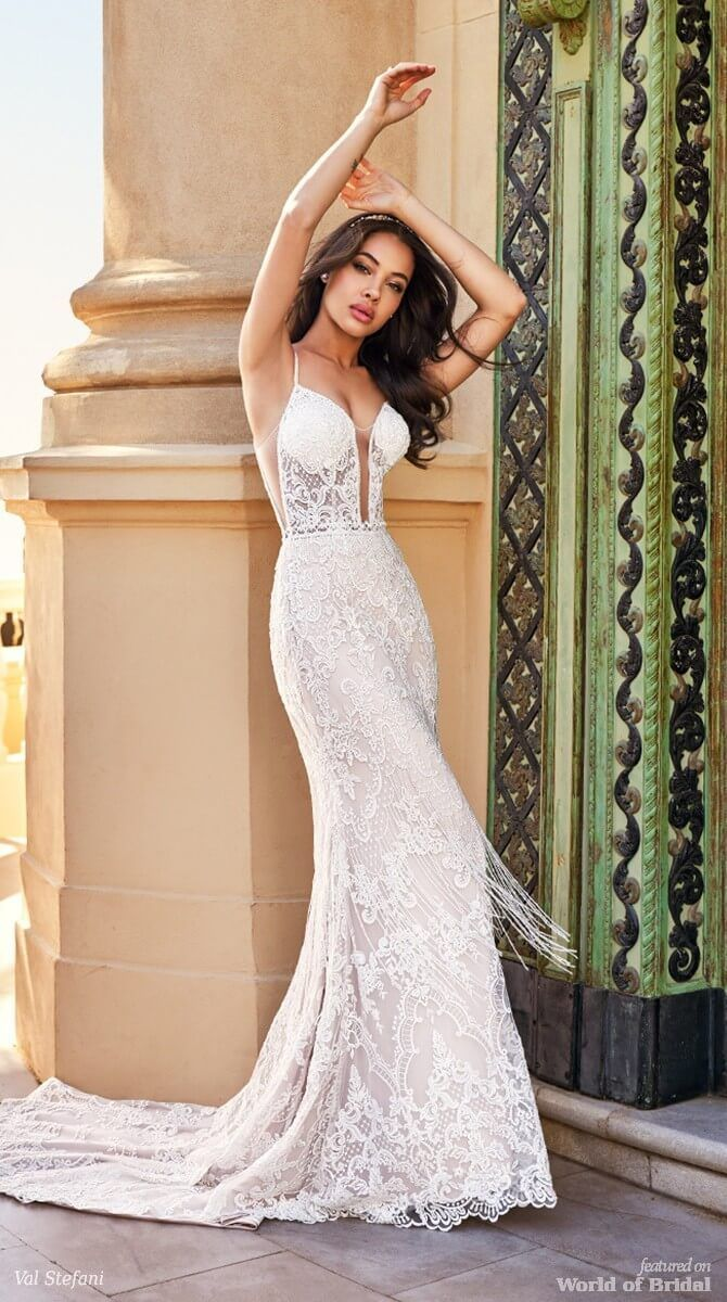 Mermaid wedding dresses whether youure going for a bohochic look