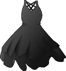 Black Dress clip art - vector clip art online, royalty free ...