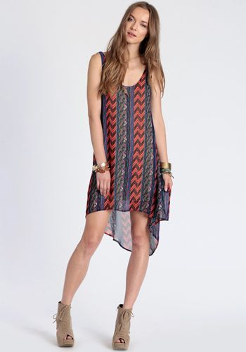 Native Trend High-Low Dress
