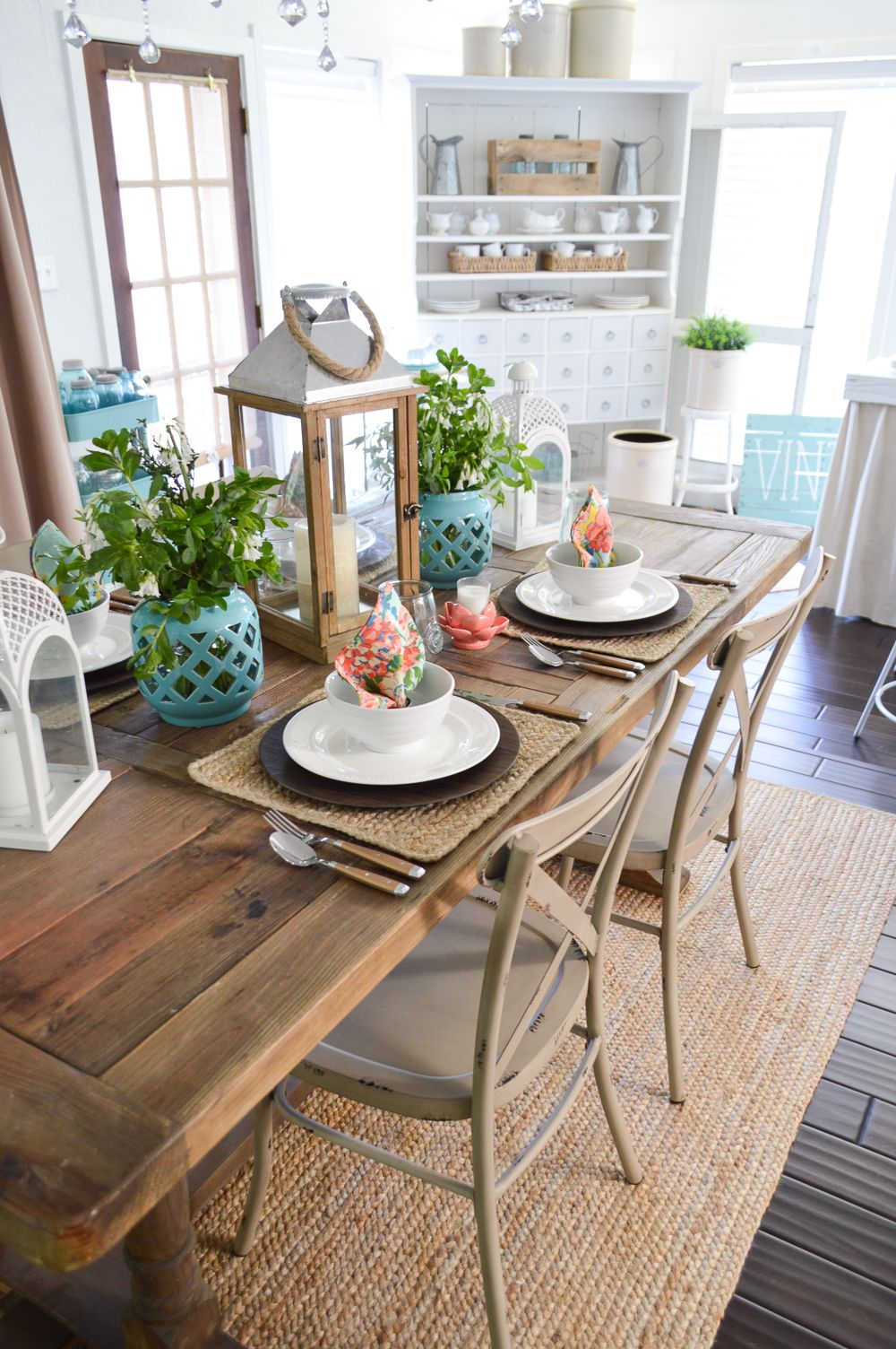 Cottage Farmhouse Table Decorating Ideas Farmhouse Table