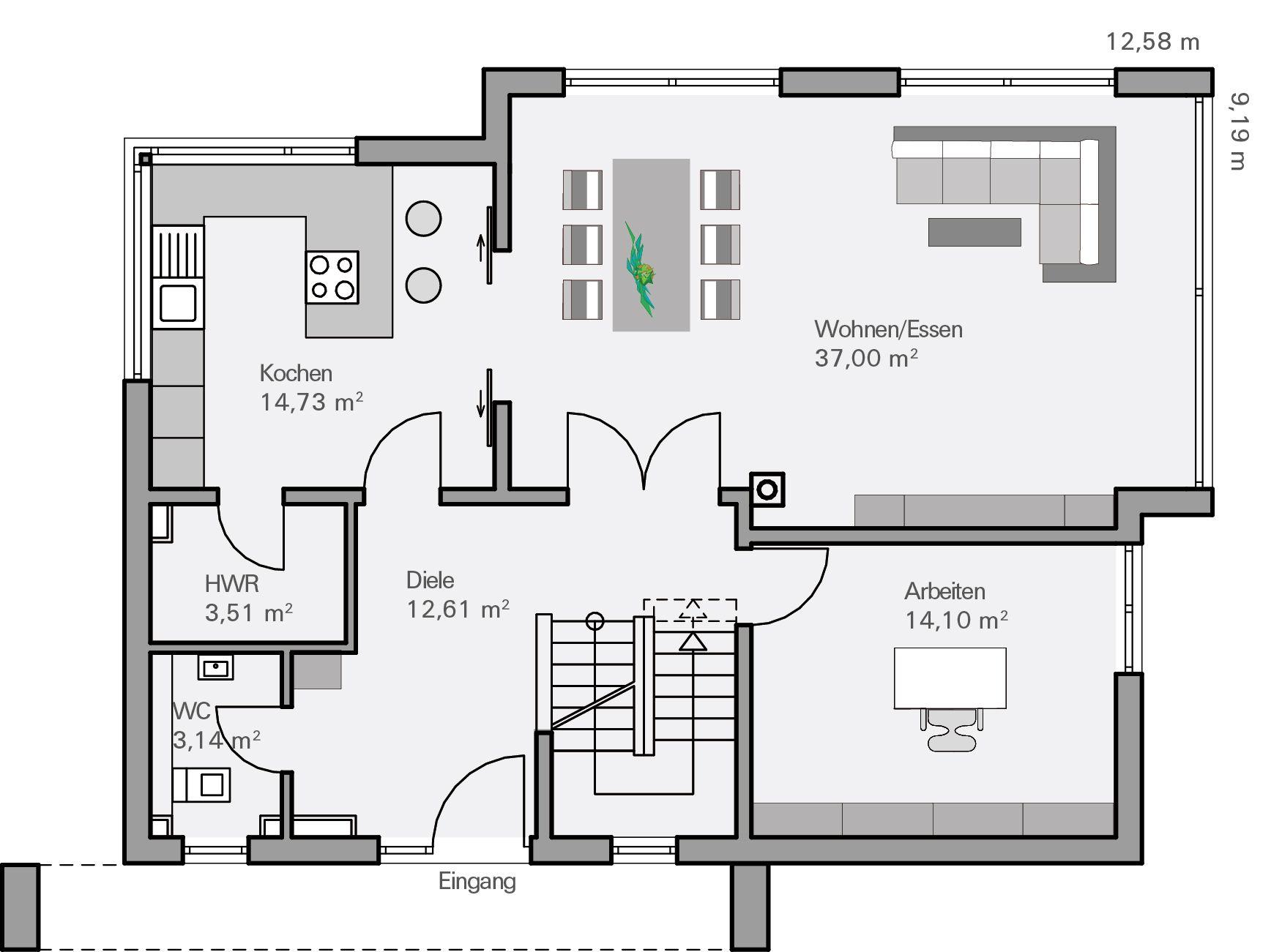 grundriss eg | houses and ideas | pinterest | haus und modern
