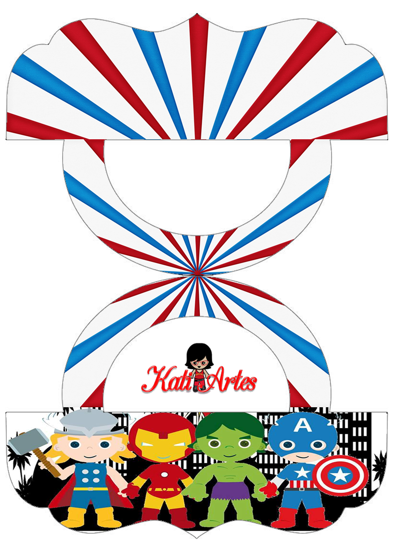 Super Heroes Pretty Candy Bag Free Printable Labels.