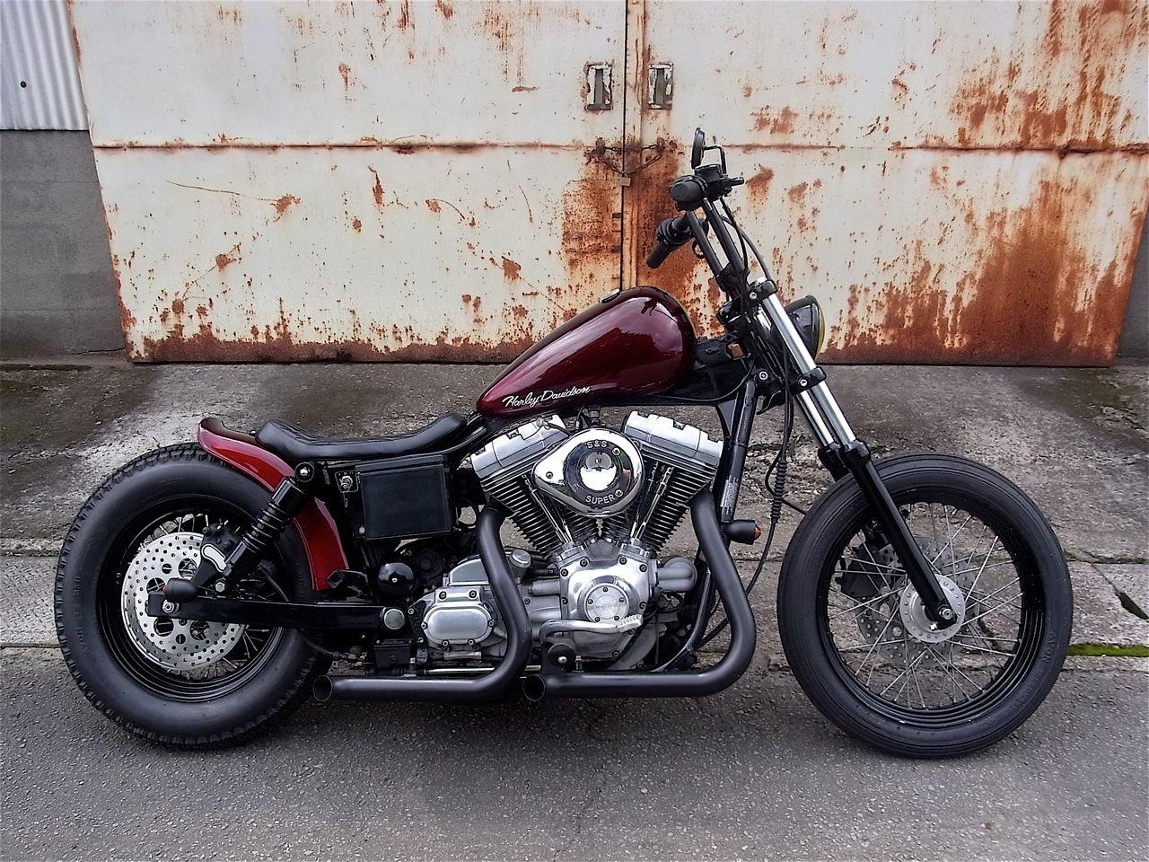 Chop Dyna Motorrad Harley Davidson Dyna Dyna Super Glide