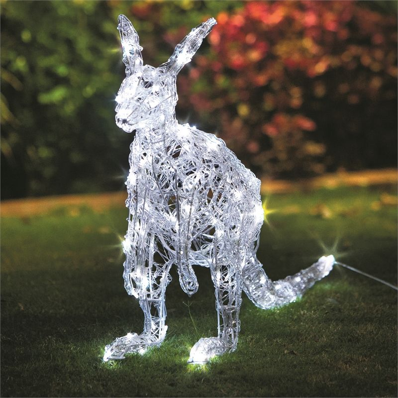 Find Lytworx 120 Led White Festive Kangaroo Light Statue At Bunnings Warehouse Visit Y Christmas Decorations Diy Outdoor Holiday Diy Projects Christmas Lights