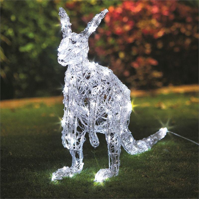 Find Lytworx 120 LED White Festive Kangaroo Light Statue