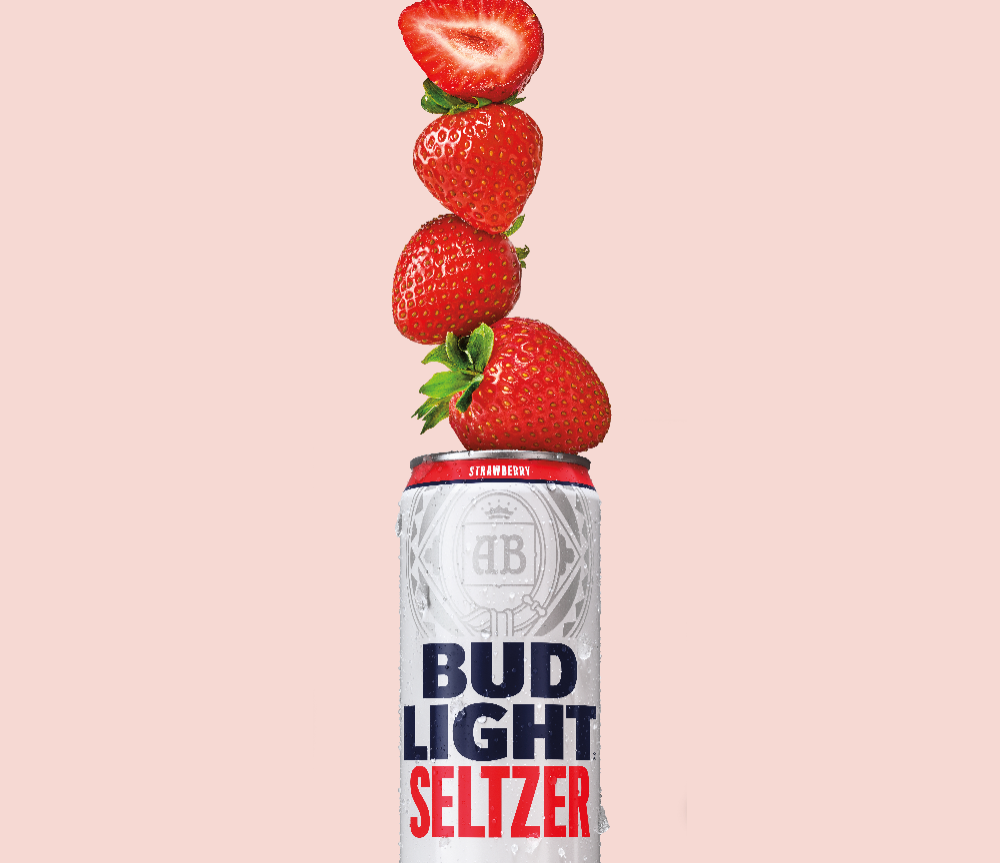 Bud Light Makes 100 Million Bet On Hard Seltzer Dieline Hard Seltzer Bud Light Boozy Drinks