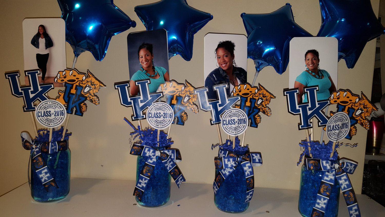 Graduation Centerpiece, Customized, Vase Picks, Party