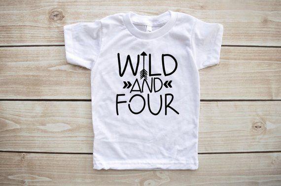 Fourth Birthday Shirt Outfit 4th Wild Child Boy G