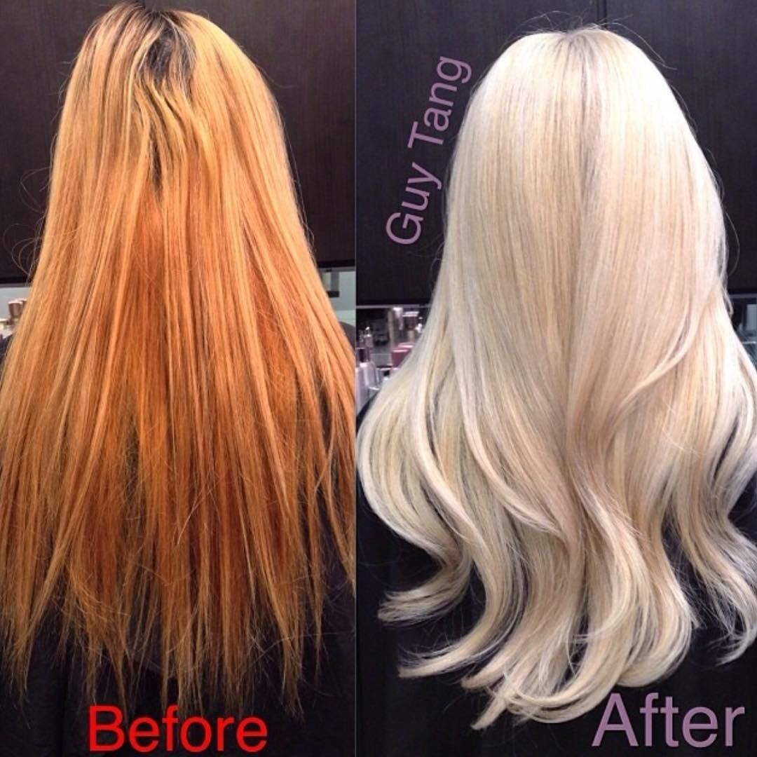 Expert Tips On How To Correct A Hair Colour Gone Wrong From Orange Roots To Yellow Blondes And St Yellow Blonde Hair Color Correction Hair Blonde Hair Color