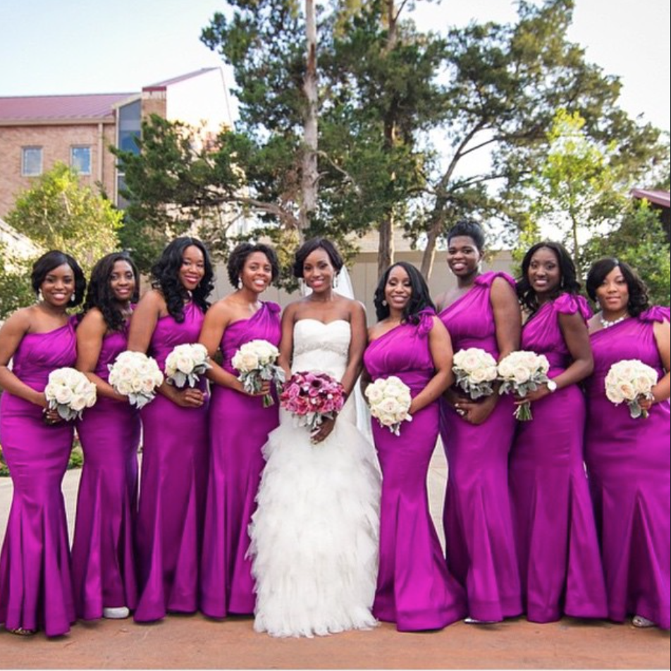 Photo By Christin Shoots People Magenta Bridesmaid Dressesbridesmaidsnigerian
