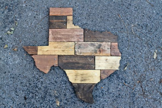 Texas cutout made from pallet wood by christopherrthompson ...