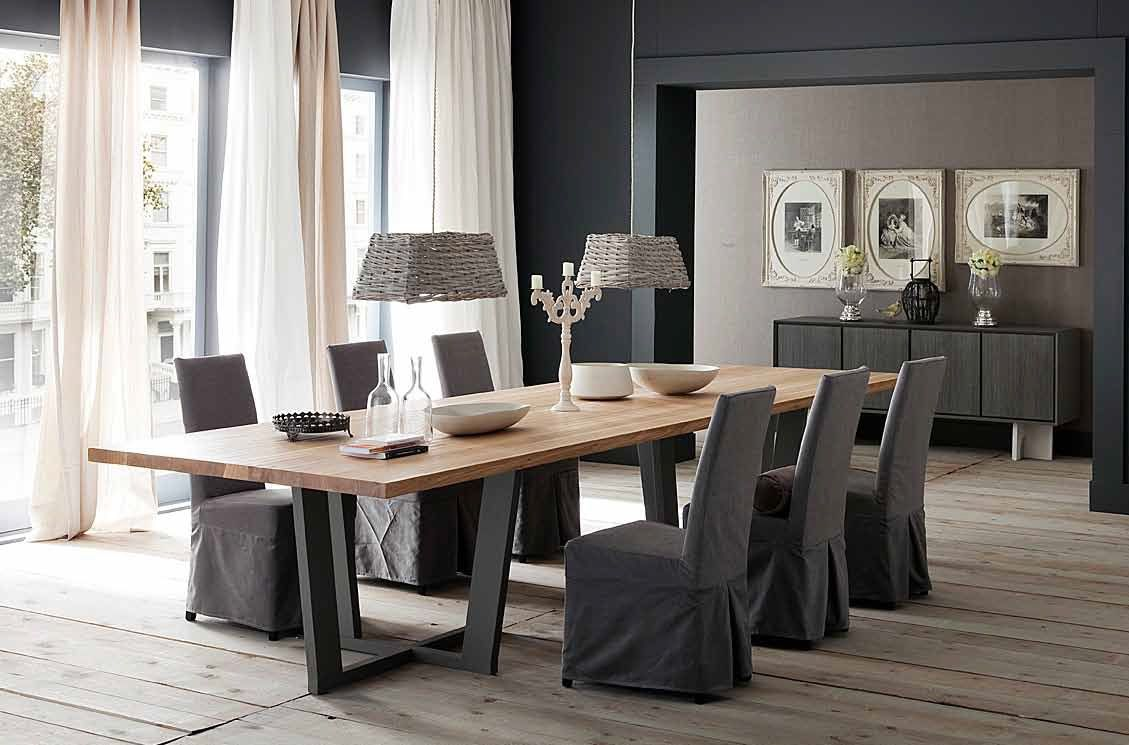 Mesa de comedor elegante comedor pinterest mesas y for Disenos de comedores de madera