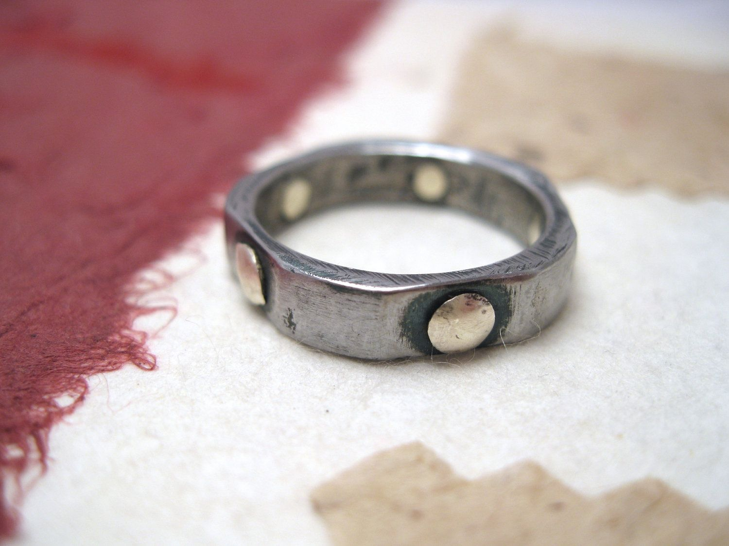 rivets with rings italy brass ring medieval riveted handmade forged via iron pin