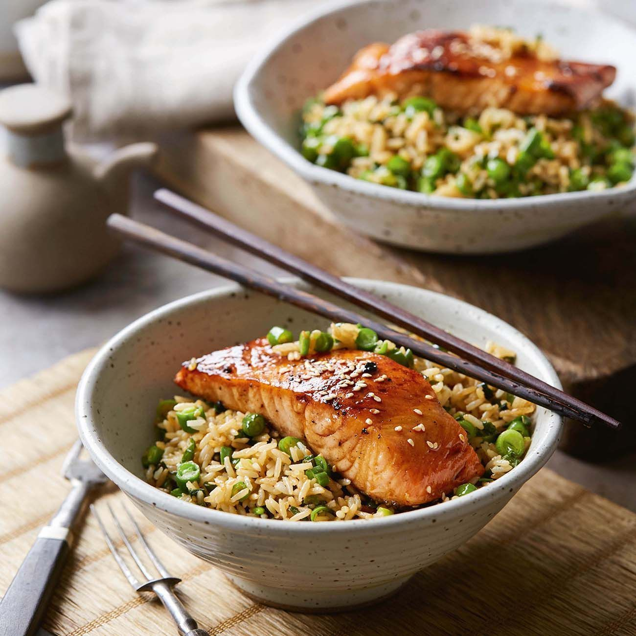 Teriyaki Salmon With Fried Rice Recipe : #Teriyaki #Salmon #With #Fried Directions 1. Combine soy, sugar, honey, garlic and ginger in a small bowl. Stir until sugar dissolves. 2. Place salmon in a dish and pour over one-th.. #recipe #teriyakisalmon Teriyaki Salmon With Fried Rice Recipe : #Teriyaki #Salmon #With #Fried Directions 1. Combine soy, sugar, honey, garlic and ginger in a small bowl. Stir until sugar dissolves. 2. Place salmon in a dish and pour over one-th.. #recipe #teriyakisalmon Te #teriyakisalmon