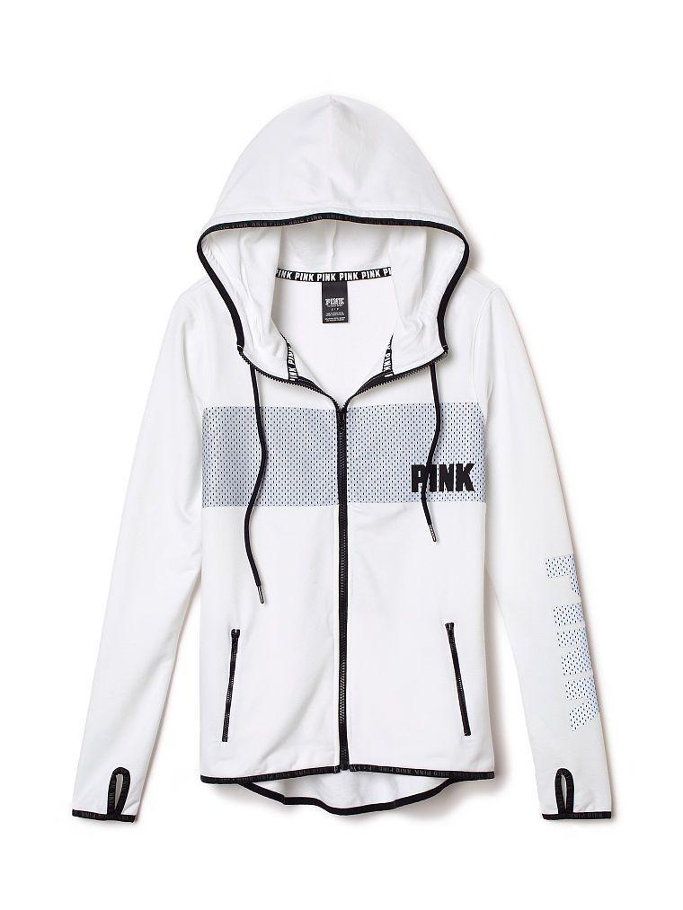 Full-Zip Fleece Hoodie. Orig. $64.95 Clearance $44.99 - PINK ...