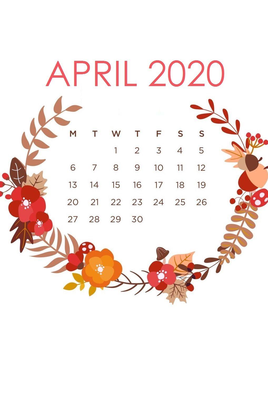 iPhone April 2020 Wallpaper Calendar in 2020 Calendar