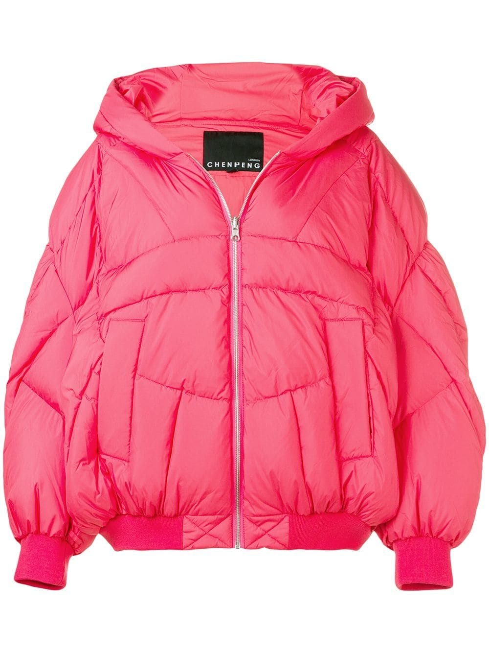 2a4c5f1f2 Cheng Peng hooded puffer jacket - Pink in 2019   Products   Puffer ...