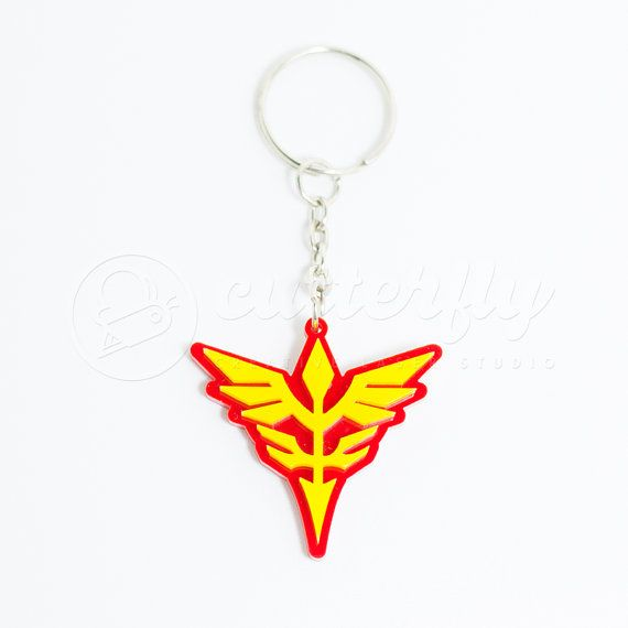 Gundam Neo Zeon Keychain By Cutterflystudio On Etsy With Images