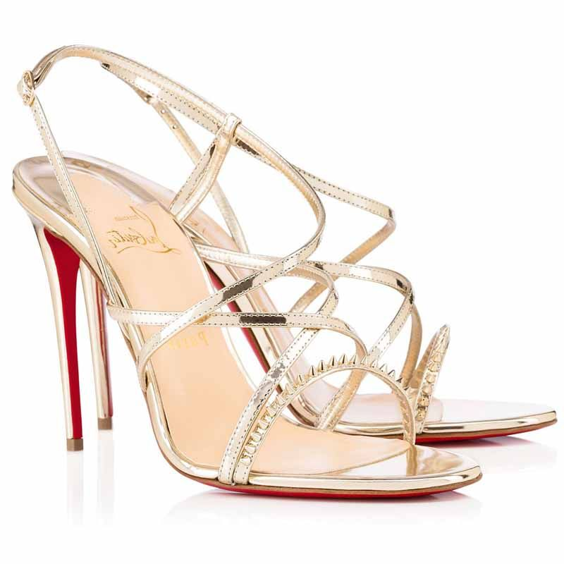 Christian Louboutin Gwinispike Metallic Sandals sneakernews online sneakernews cheap price many kinds of for sale 1Au7t2DnKN