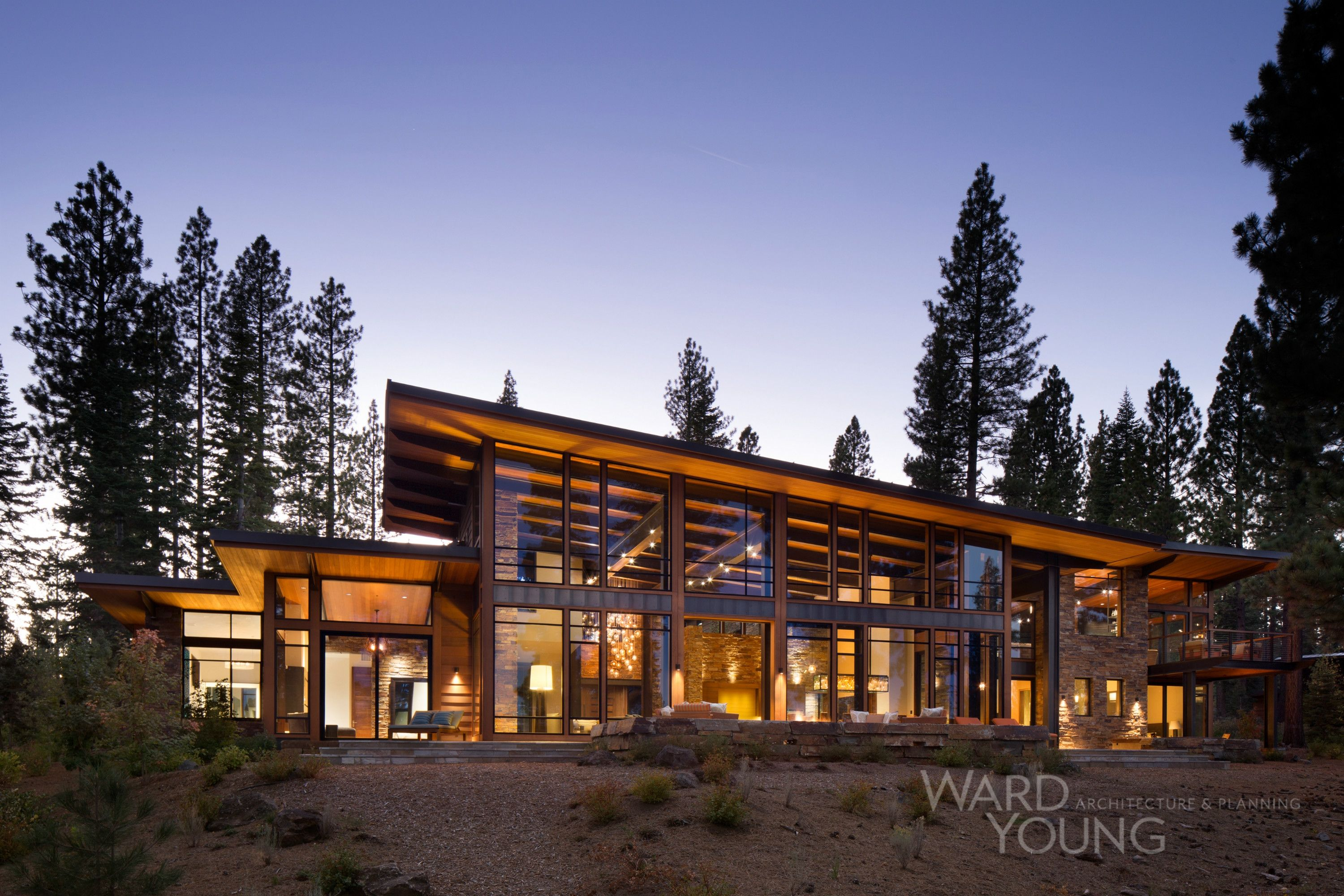Martis Modern Projects Ward Young Architecture Modern Mountain Home Architecture Mountain House Plans