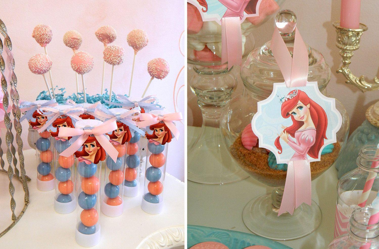 Printable Royal Princess Ariel Birthday Party PDF 1550 Via Etsy