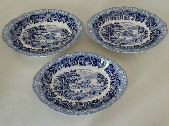 Three Staffordshire W.H.Grindley Country Style Oblong Dishes & Three Staffordshire W.H.Grindley Country Style Oblong Dishes ...