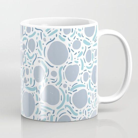 Waves and circles - ocean palette Mug