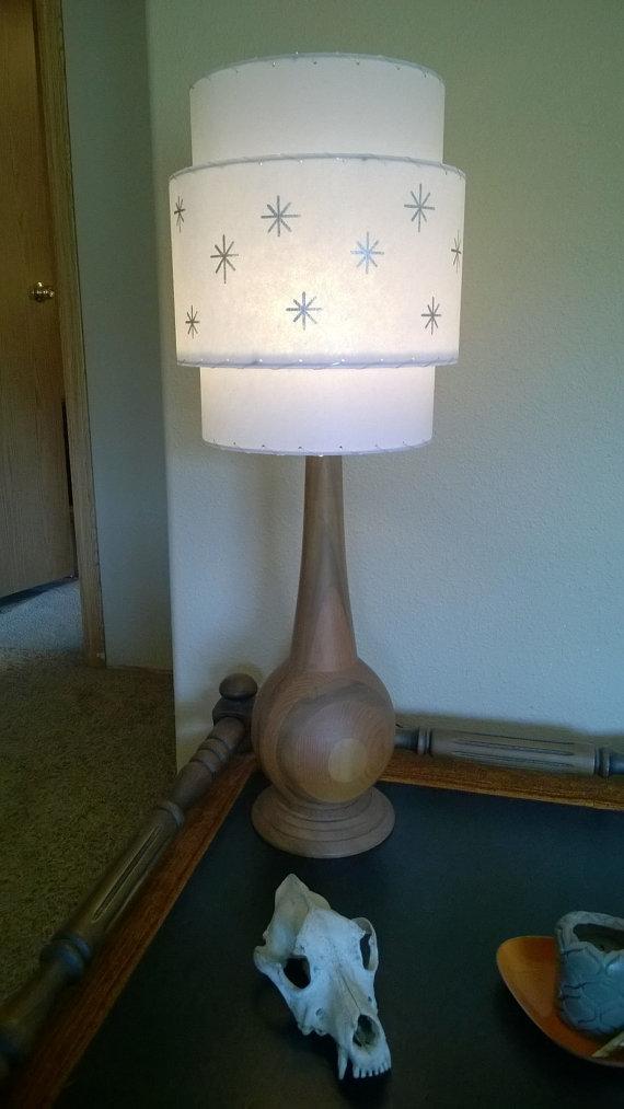 Vintage Mid Century Style Fiberglass Lamp Shade Modern