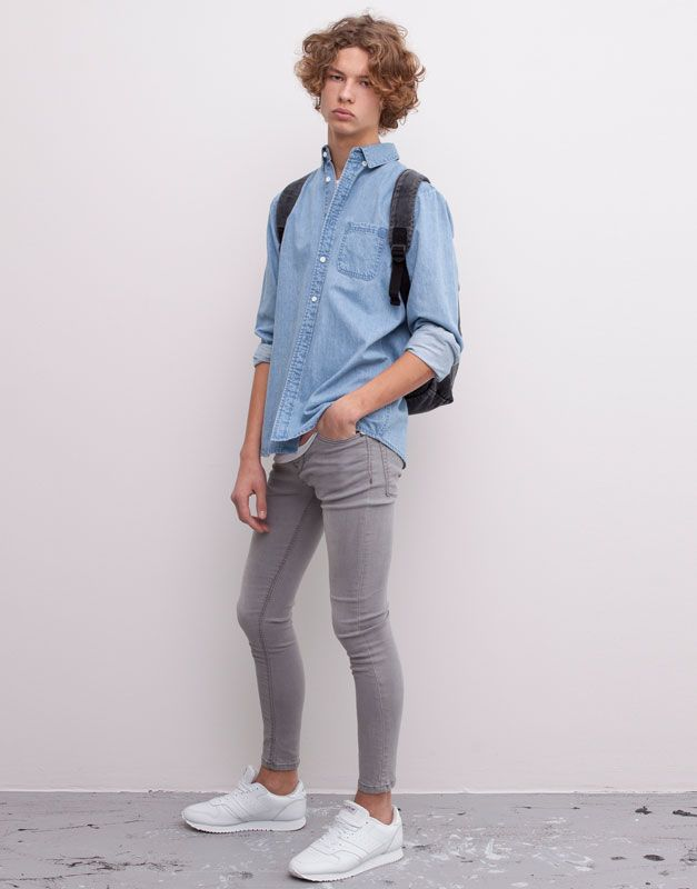 super skinny jeans grey dirty style needs pinterest. Black Bedroom Furniture Sets. Home Design Ideas