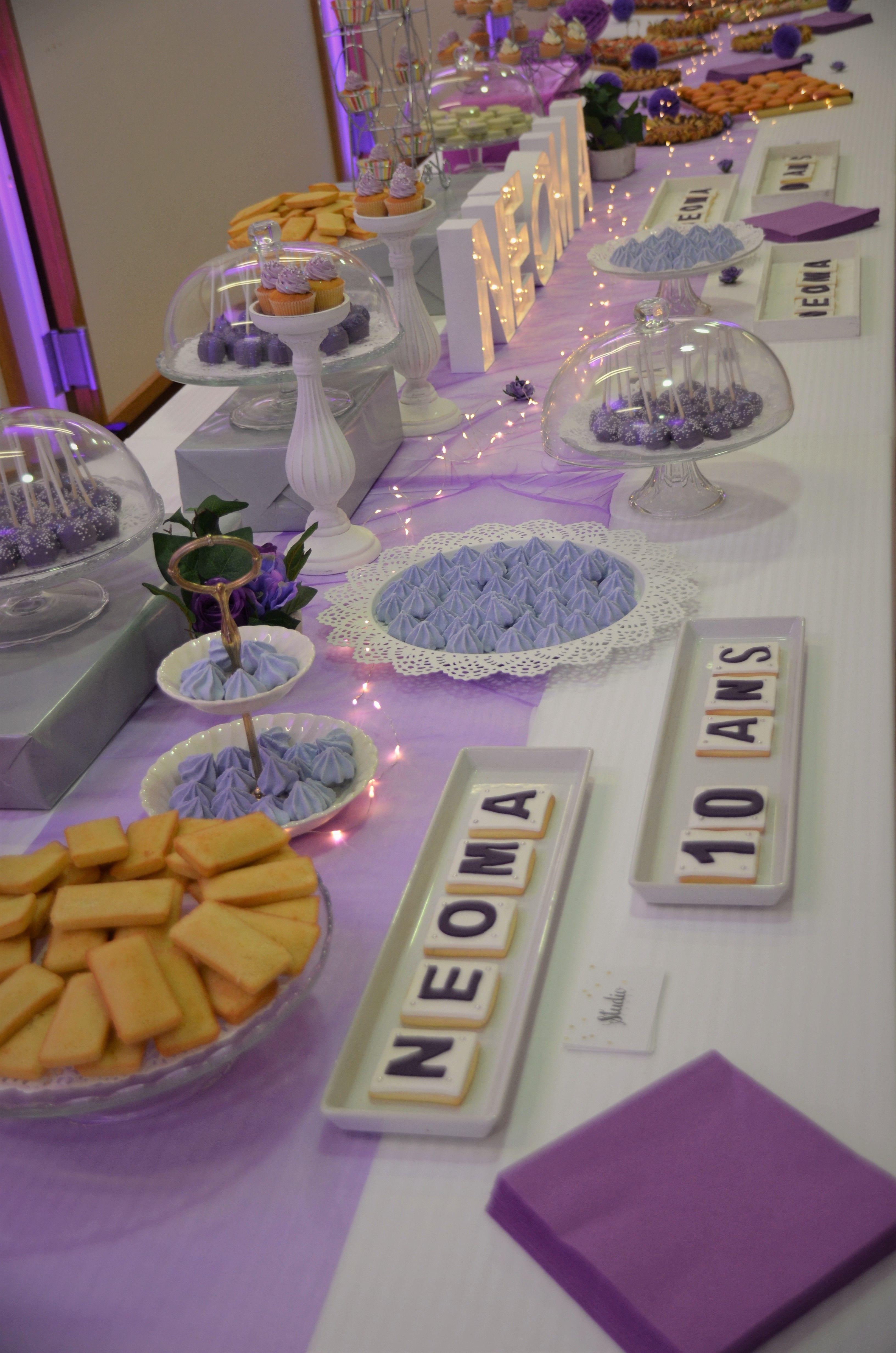 Cuisine Blanc Gris Violet sweet table violet, blanc et gris pour neoma par studio
