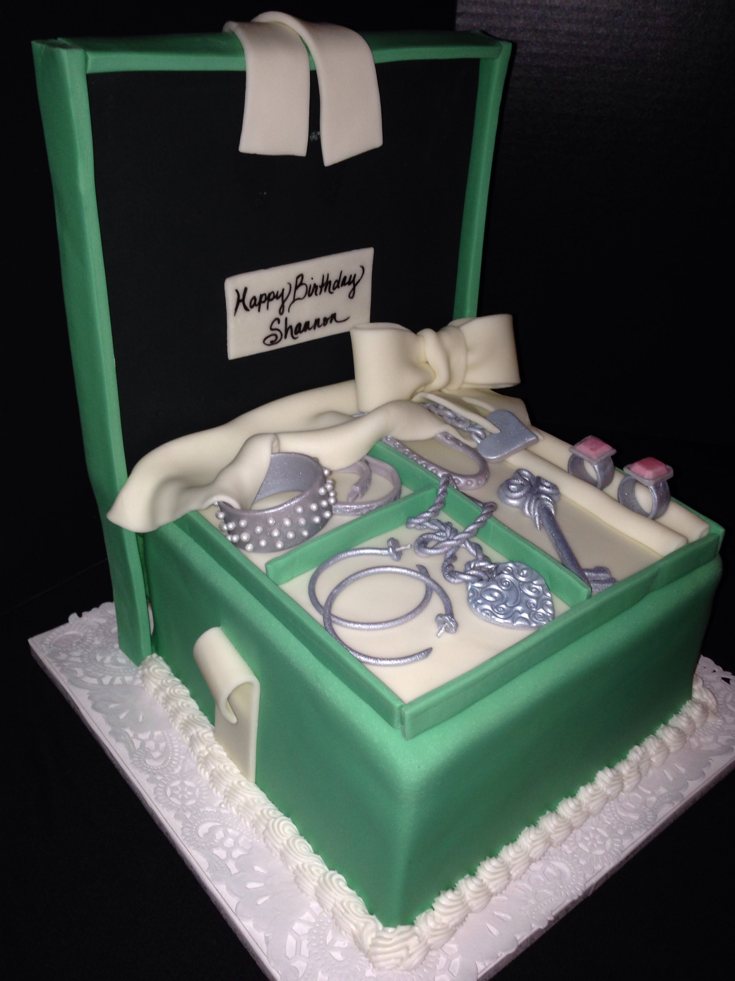 Tiffany jewelry gift box cake My creations Small