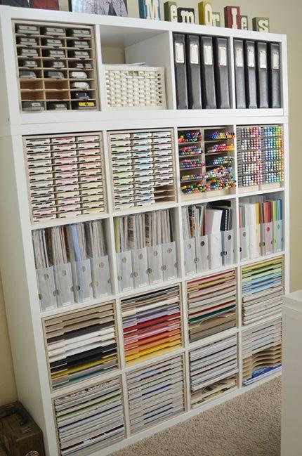 Paper Craft Storage In Ikea Shelving Craft Paper Storage Craft Room Design Craft Room