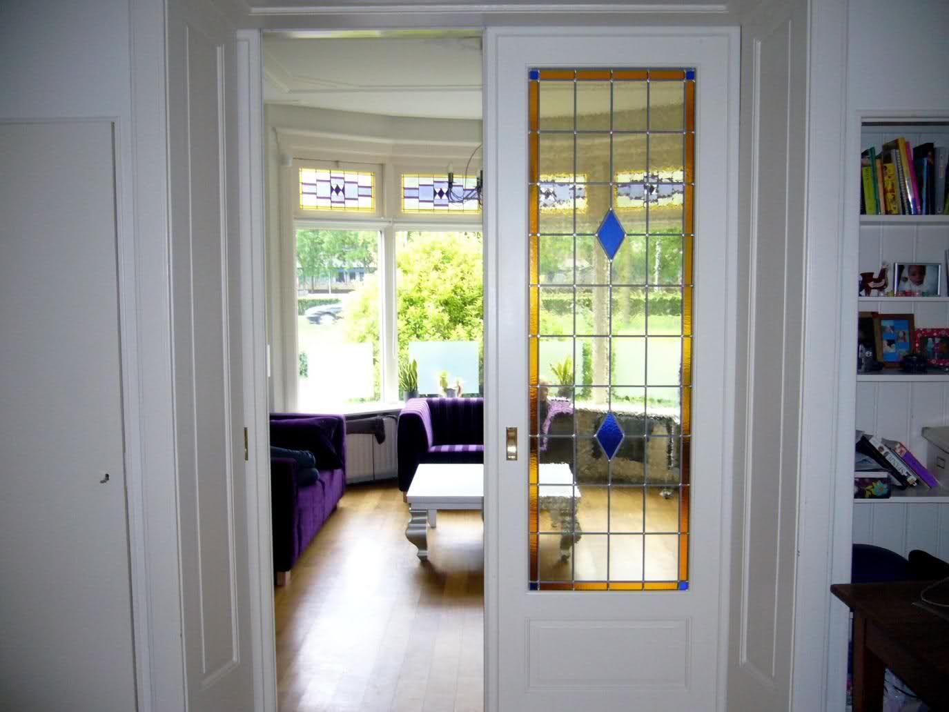 Ensuite Deuren Glas In Lood.Sfeervolle Glas In Lood Ramen In Kamer En Suite Deuren Vitrazhi In