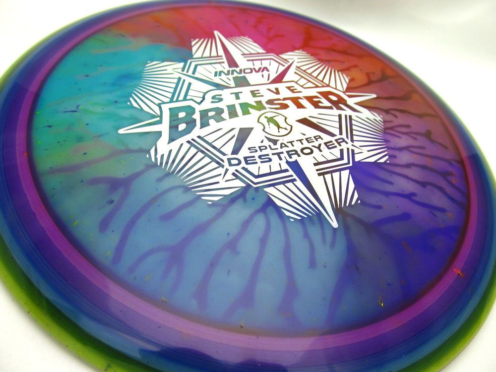 Currently Unavailable Tour Series Brinster Splatter Destroyer With A Sweet Custom Dye New Innova Splatter Destroyer 175g Distance Disc Golf Dye Disc Golf Golf