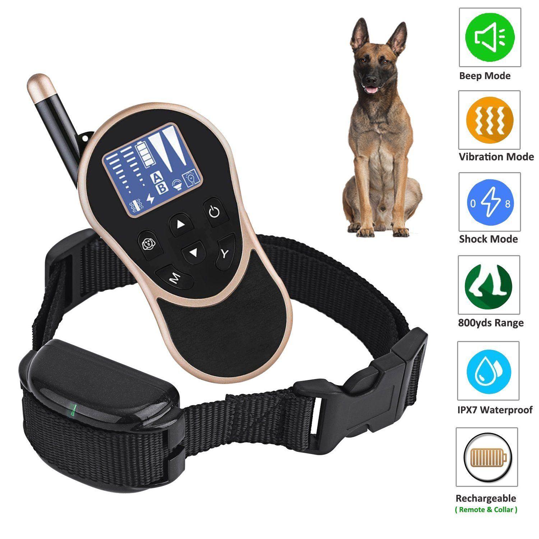 Newpets 800 Yards Range Remote Pet Training Dog Shock Collar With
