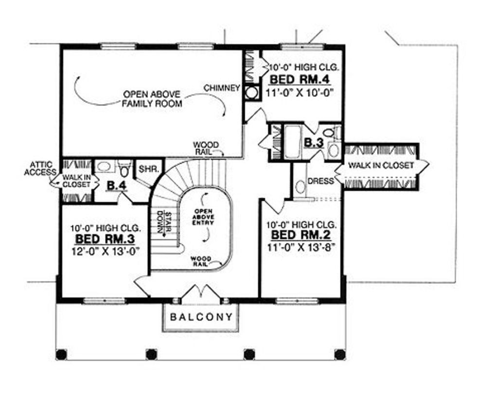 houseplans com upper floor plan plan 40 244 floor plans pinterest