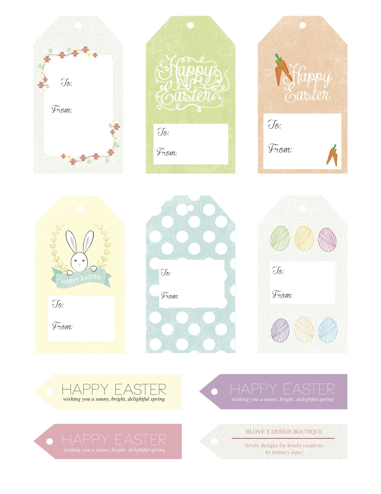Free Easter Printables Adorable T Tags