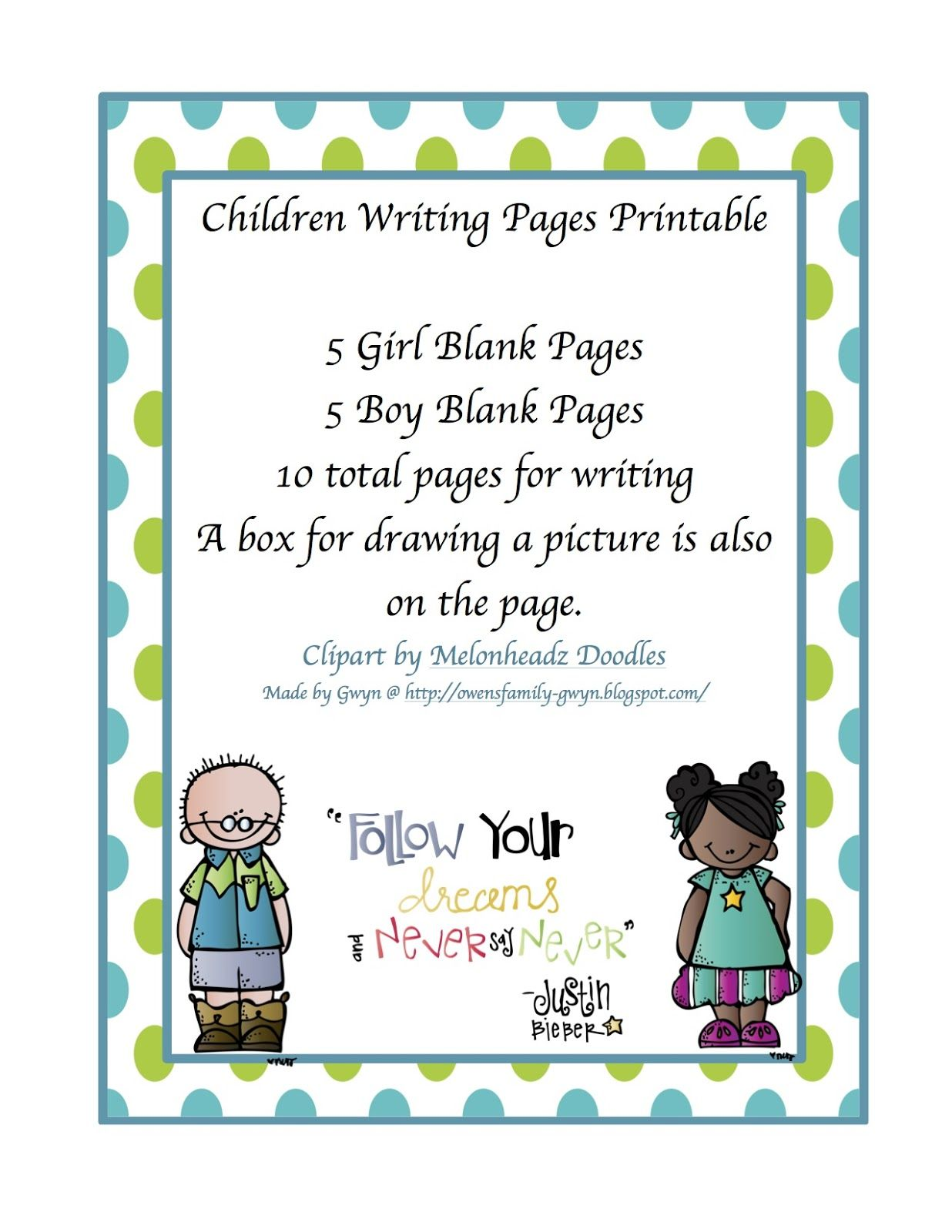 Preschool Printables Writing Pages