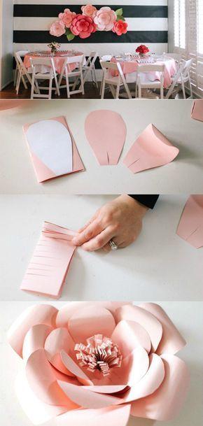 Photo of Riesiges Papier blüht Wanddekor. Mischen Sie und bringen Sie die Farben und die Größe Ihrer Blume zusammen … – DIY Papier Blog