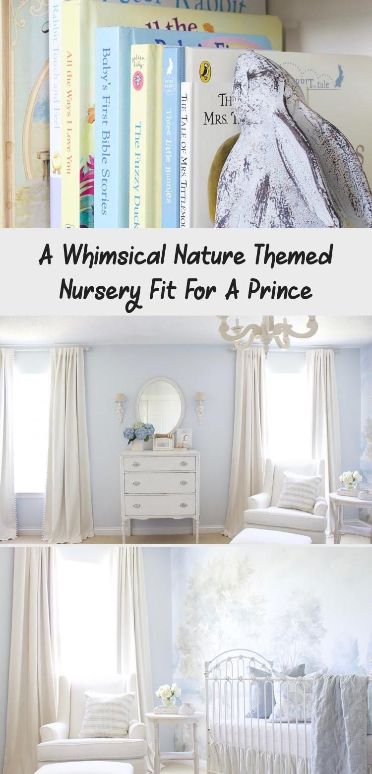 A Whimsical Nature Themed Nursery fit for a Prince. Design by Tuft & Trim Interi...