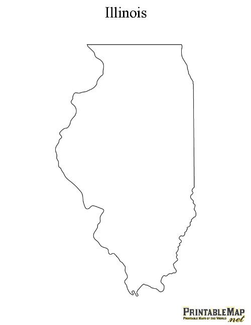Illinois Blank Map Printable Map of Illinois | Crafty Craft | Illinois state, String