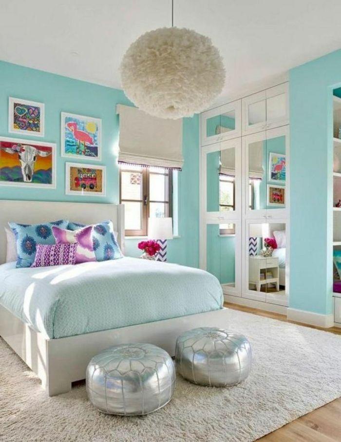 1001 ideas de decoraci n de habitaciones de ni as for Decoracion de paredes con cuadros grandes