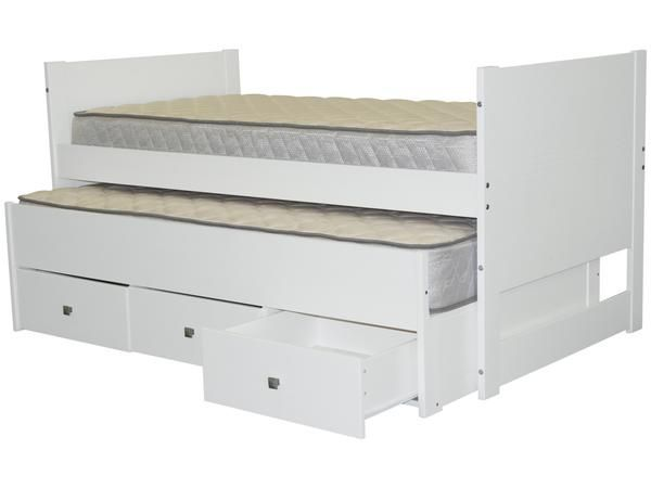 Best All In One Twin Bed With Trundle And 3 Drawers In Rustic 640 x 480