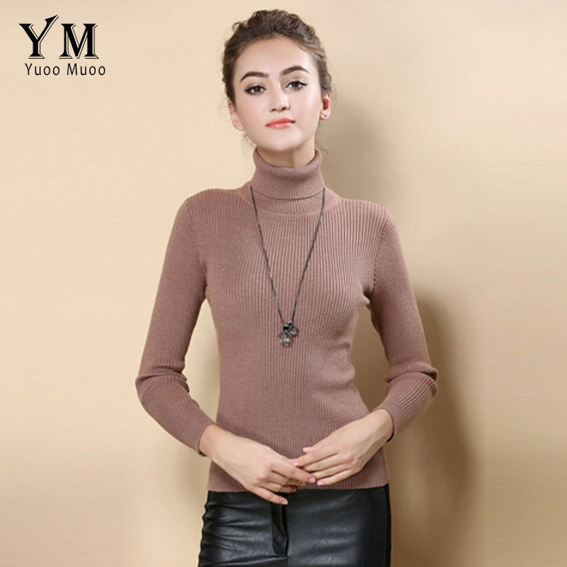 Yuoomuoo High Quality Women Sweater New Turtleneck Pullover Winter