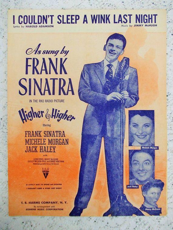 Vintage Sheet Music Frank Sinatra Film by DaysofYoreTreasures