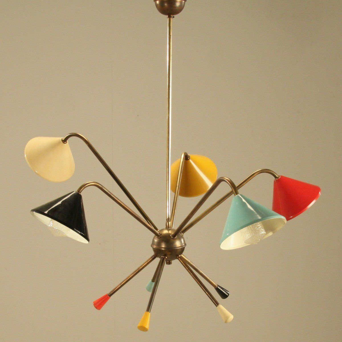 modern colorful chandelier. 1950s Italian Atomic Chandelier. Light Your Way To A More Colorful Tomorrowland! Modern Chandelier W