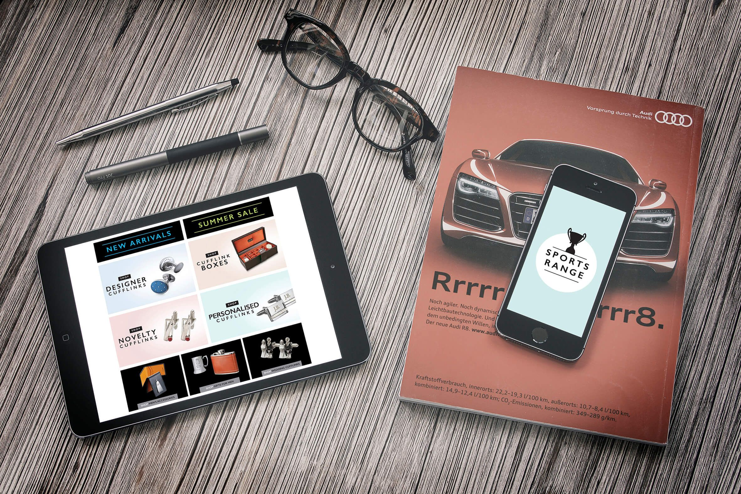 A new homepage design for www.cufflinkman.co.uk by Create Onsight - www.createonsight.co.uk